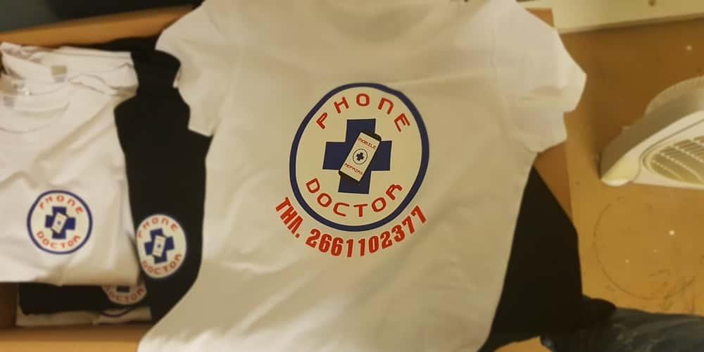 Εκτύπωση t shirt 4χρωμο μεταξοτυπία